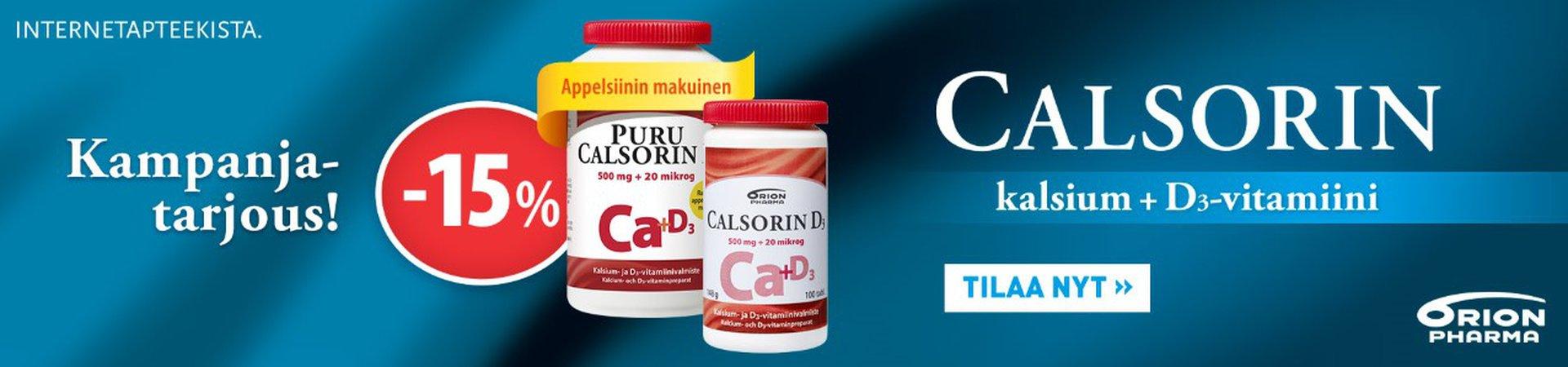 Calsorin -15 % maaliskuussa