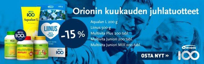 Orionin helmikuun juhlatuotteet -15%