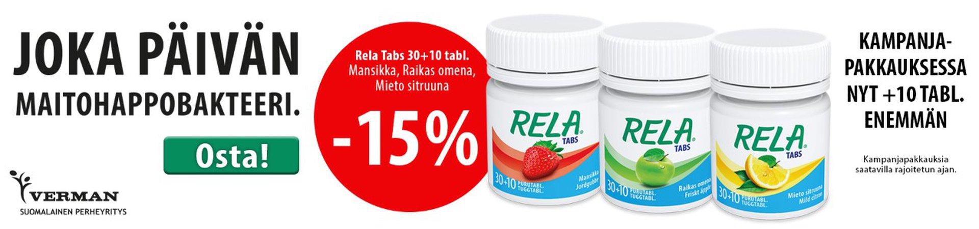 Rela Tabs 30 + 10 syyskuu 2019