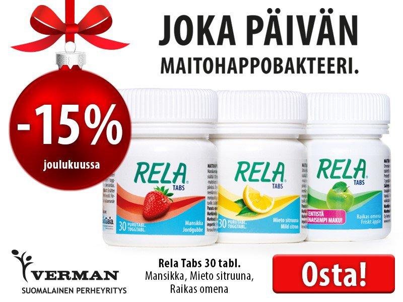 Rela Tabs 30 tabl. joulukuussa -15 %