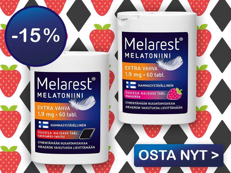 Melarest 1,9 mg mansikka ja salmiakki-lakritsi