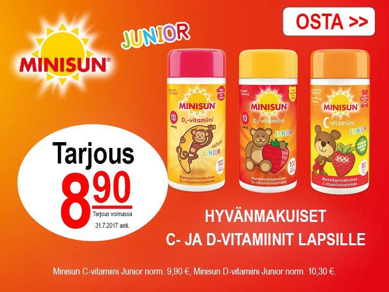 Minisun Junior C- ja D-vitamiinit