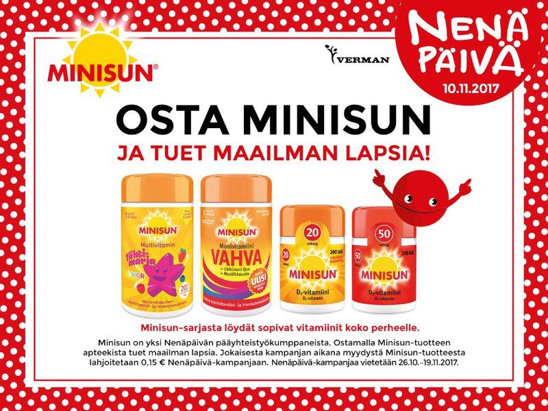 Osta Minisun ja tuet maailman lapsia!