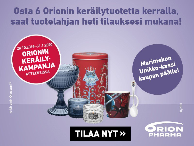 Orionin keräilykampanja - Syksy-talvi 2019-2020