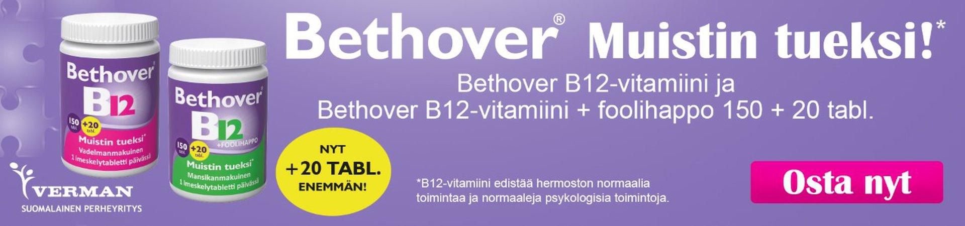 Bethover B12 vitamiinit maaliskuussa