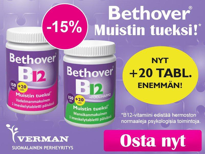 Bethover B12 150 tabl.+20 tabl. -15 % huhtikuussa
