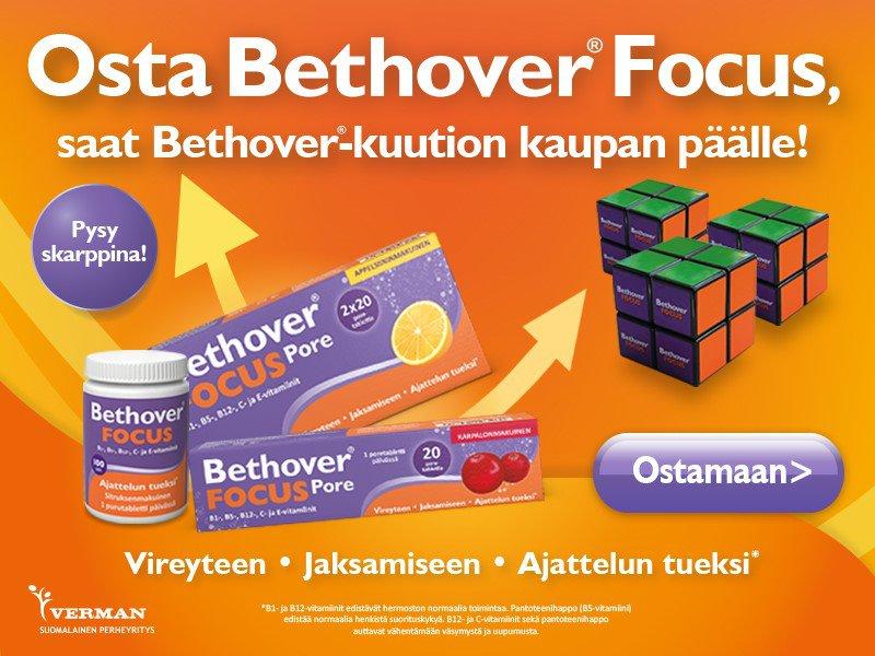 Bethover Focus marraskuussa. Kaupan päälle Bethover-kuutio