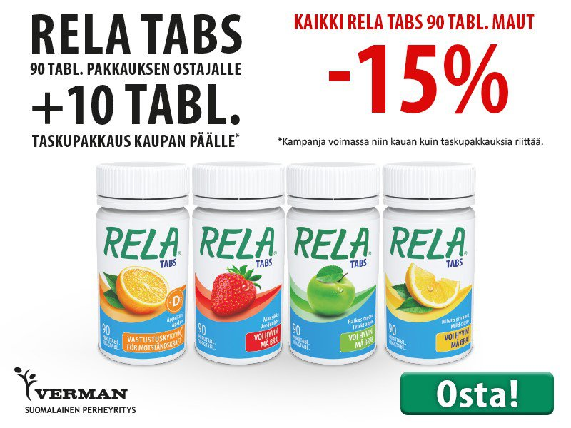 Rela Tabs 90 tabl.  -15 % helmikuun 20