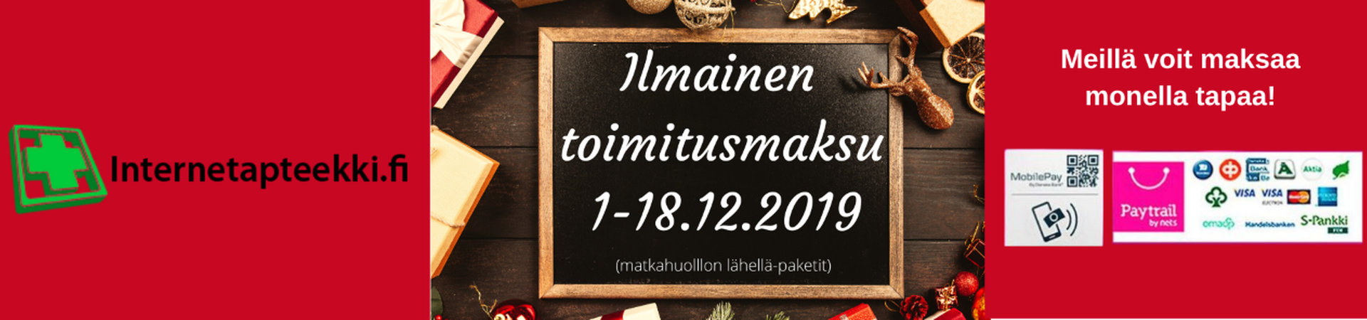 Internetapteekki joulubanneri 2019