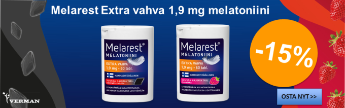 Melarest 1,9 mg melatoniini -15%