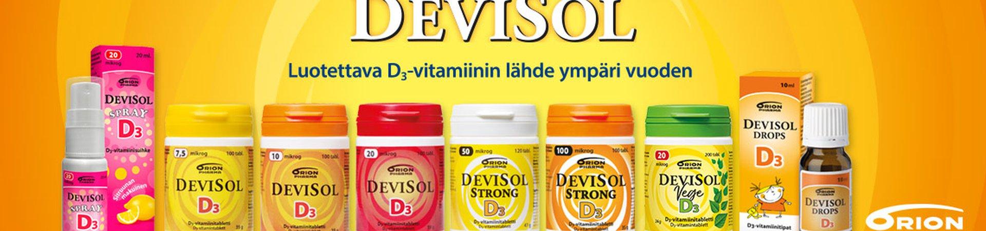 Devisol, D-vitamiini, syksy, vastustuskyky