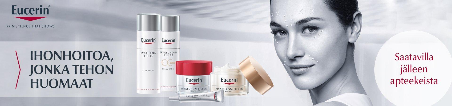 Eucerin kosmetiikkasarja saatavilla jälleen apteekista