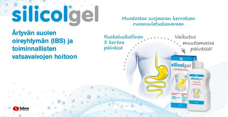 silicolgel geeli ibs oireisiin ja toiminnallisten vatsavaivojen hoitoon