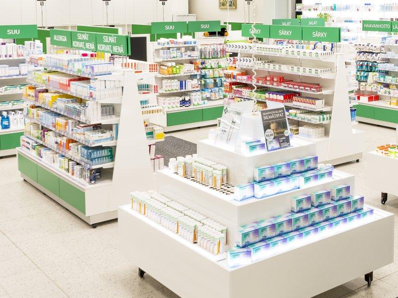 Hollolan apteekin myymälä