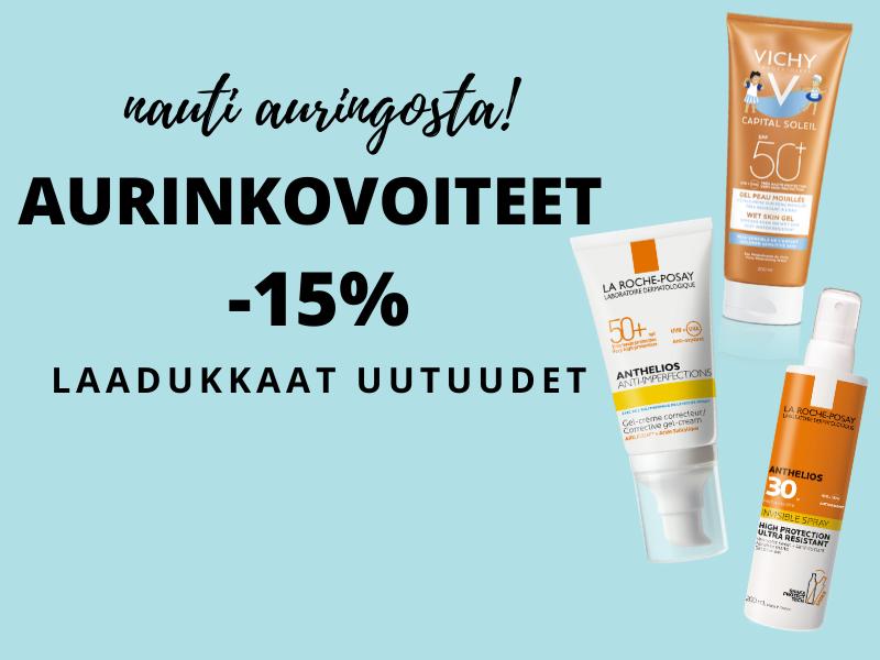 Aurinkovoiteet -15%