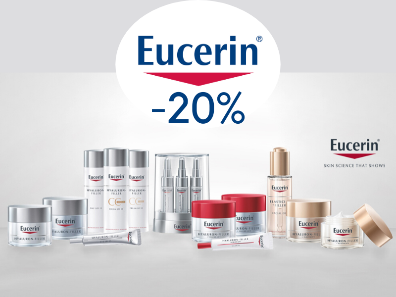 Eucerin -20% nyt Karhu Apteekista