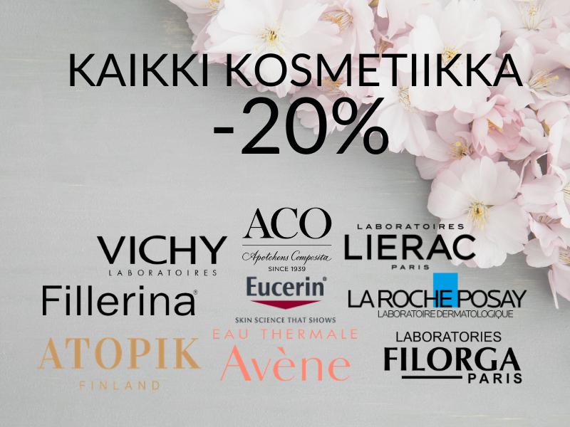 Kaikki kosmetiikka -20%