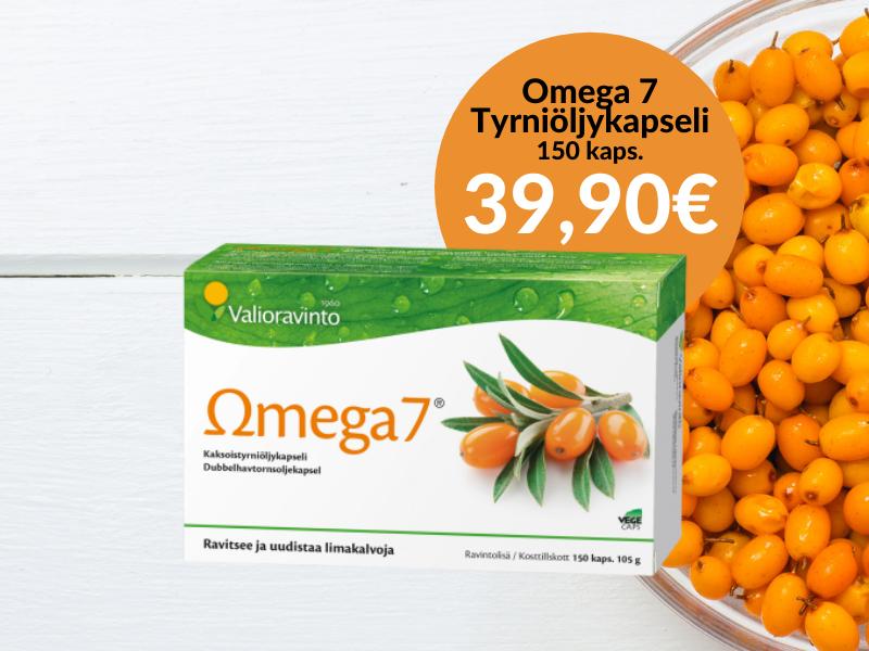 Omega7-tyrniöljykapseli 150kaps 39,90€