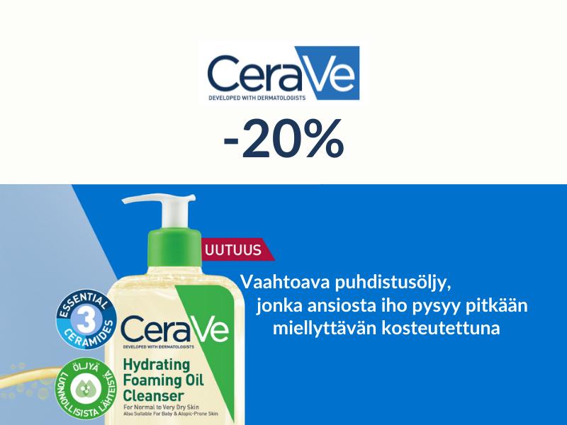 CeraVe -20% syyskuussa