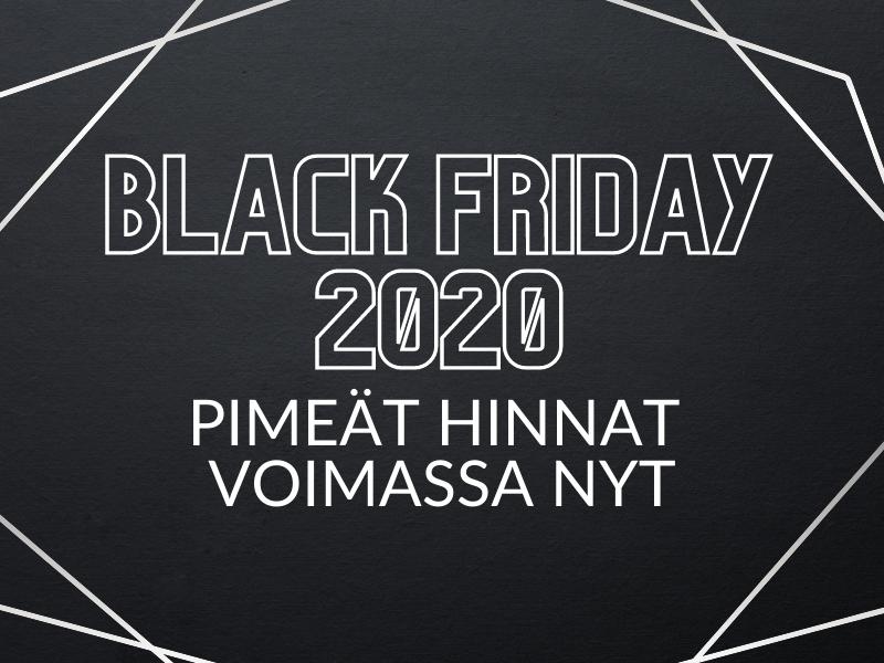 Black Friday 2020 - tarjoukset voimassa nyt