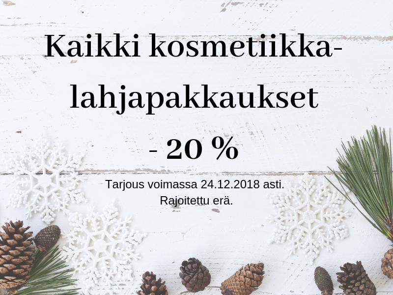 Lahjapakkaukset -20%
