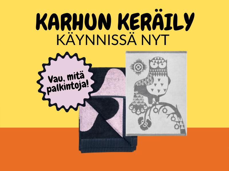 Kampanjan tuotelahjat ovat Marimekon ja Iittalan käsipyyheet!
