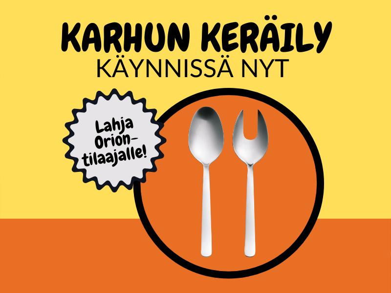 Kampanjan tuotelahjana on Fiskarsin salaatinottimet!