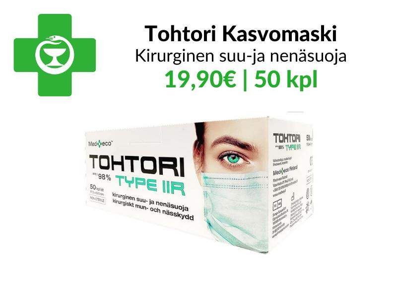 Tohtori kasvomaski - kirurginen suusuoja 19,90€ 50kpl