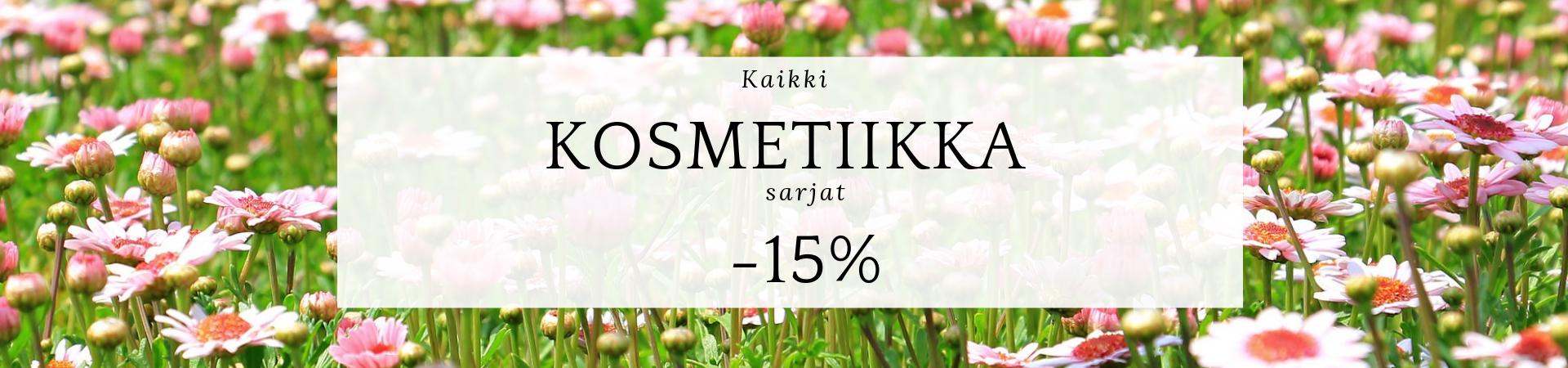 Kosmetiikka -15% 31.7. asti