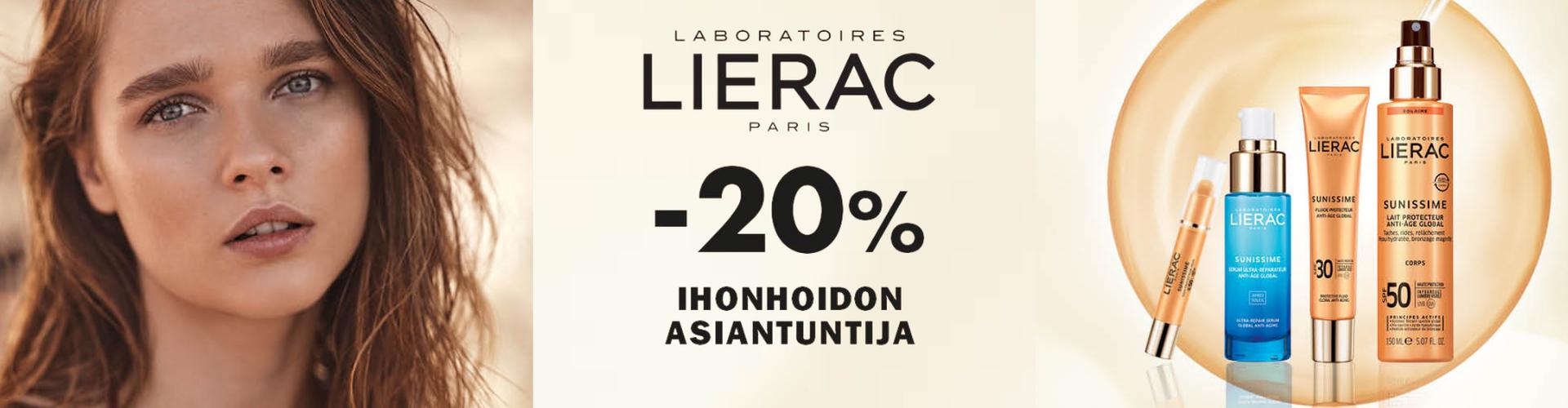 Lierac -20% nyt Karhu Apteekista