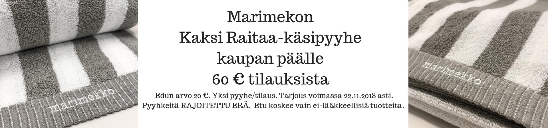 Marimekko 60€ 15.-22.11.2018