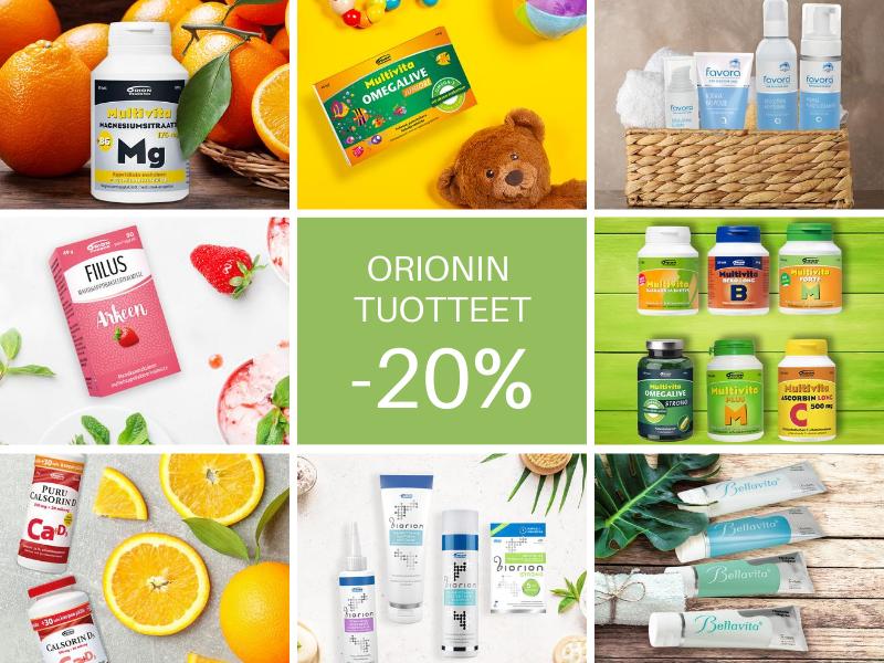 Kaikki Orionin tuotteet -20%