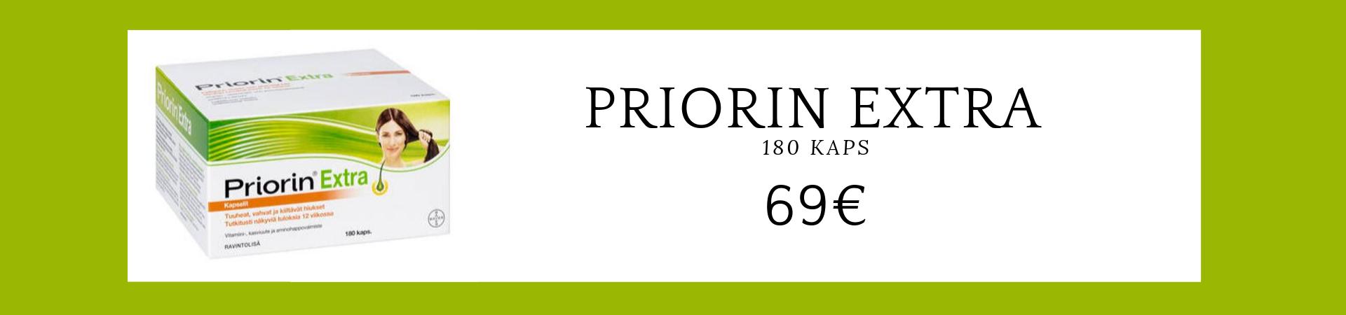 Priorin Extra 180 kaps 69€