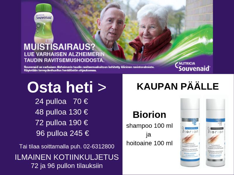 Souvenaid Biorion kaupan päälle 24.7. asti
