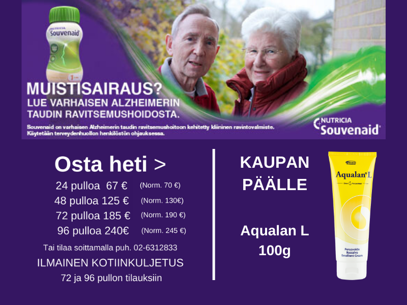 Souvenaid Aqualan L kaupan päälle 23.3.-9.4.