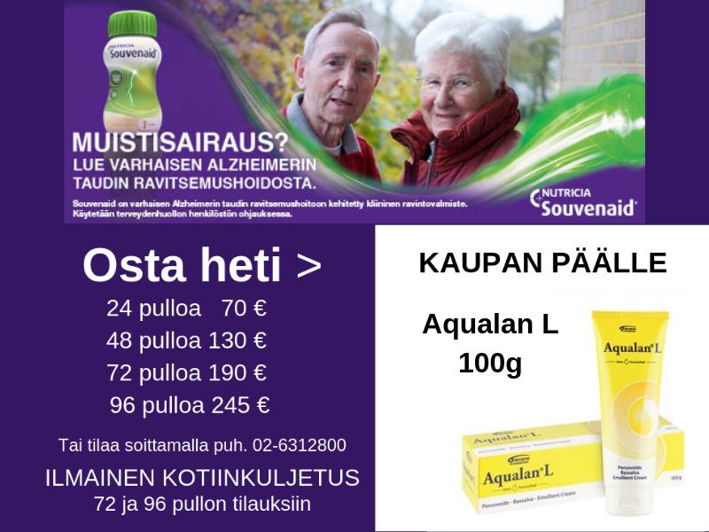 Souvenaid Aqualan L kaupan päälle 25.7 alkaen