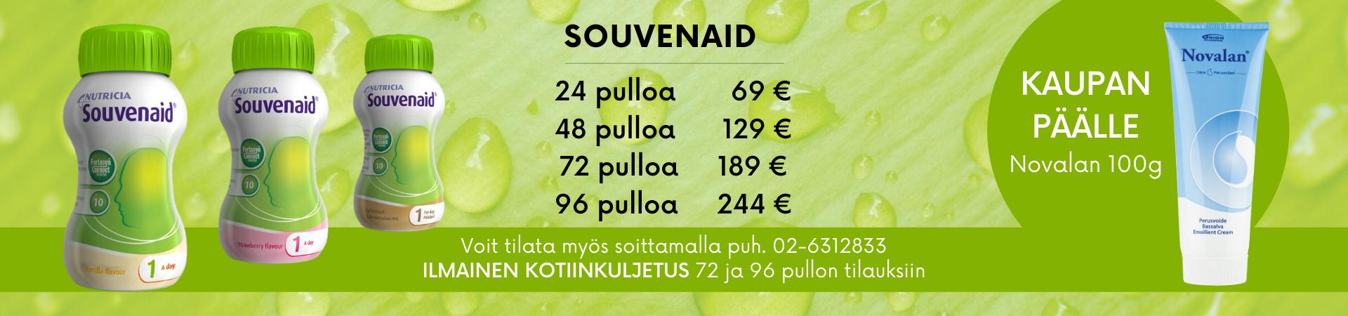 Souvenaid Novalan kaupan päälle 19.5. ->