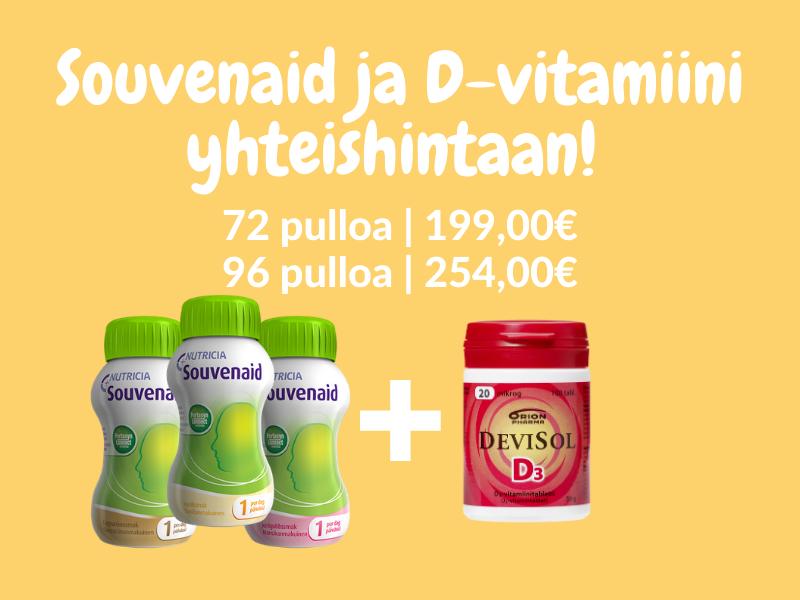Souvenaid ja D-vitamiini edullisesti