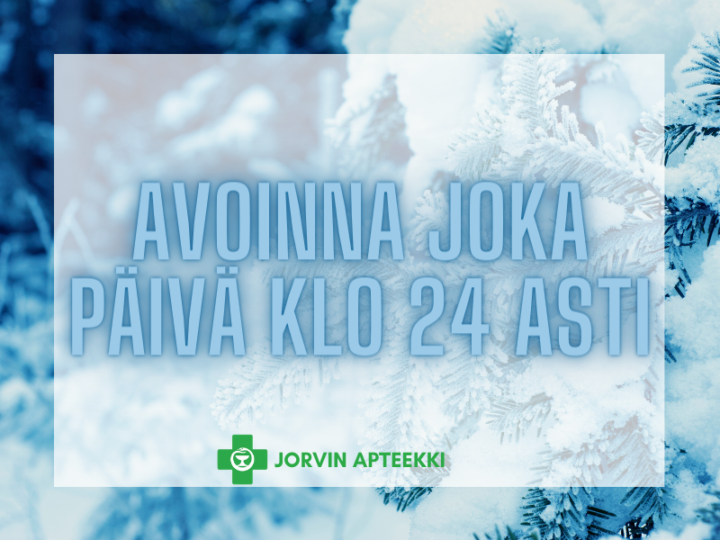 jorvin apteekki aukiolo aukioloajat