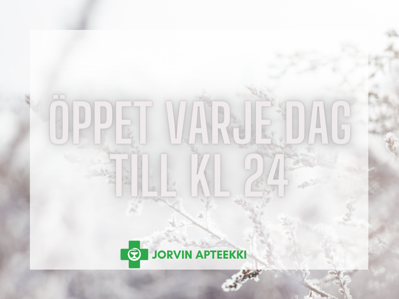 Jorvin Apteekki öppet