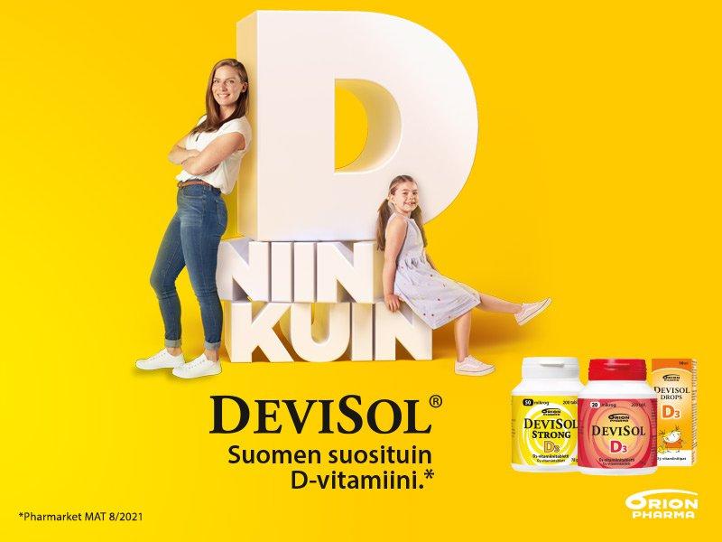 Orionin Devisol D-vitamiini