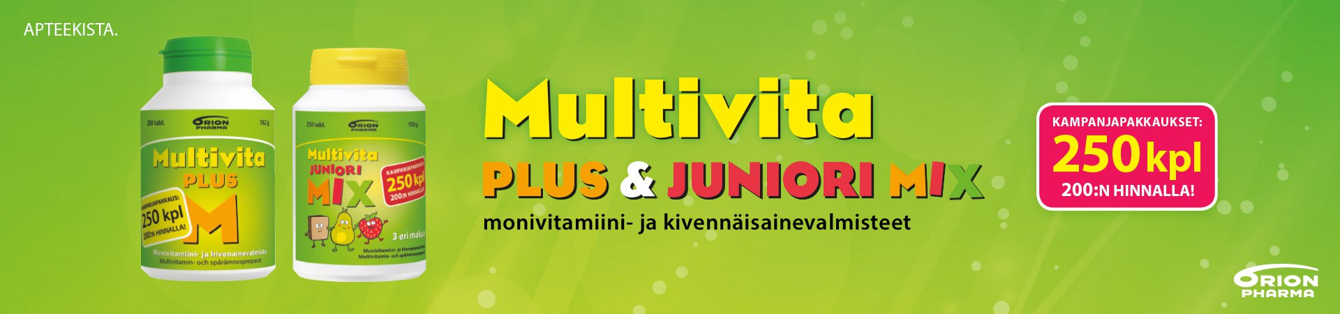 multivita monivitamiini multivita kampanjapakkaus orion monivitamiini