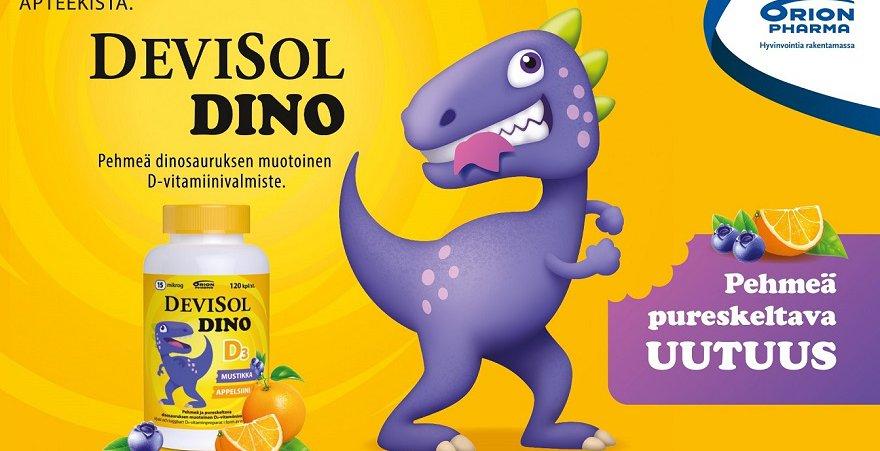 Hyvänmakuinen D-vitamiinivalmiste lapsille