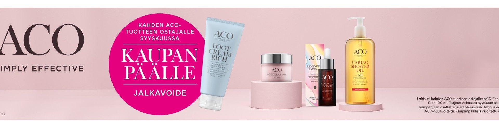 Aco ihonhoitotuotteet, jalkavoide kaupan päälle