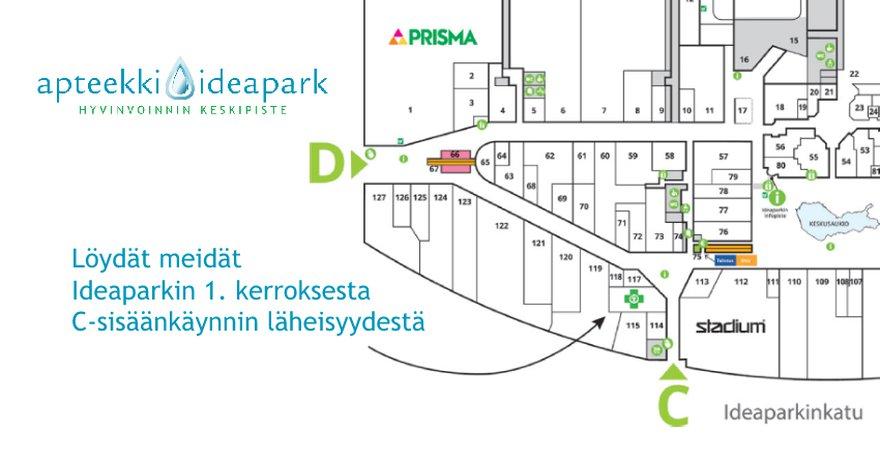 Apteekki Ideapark sijainti