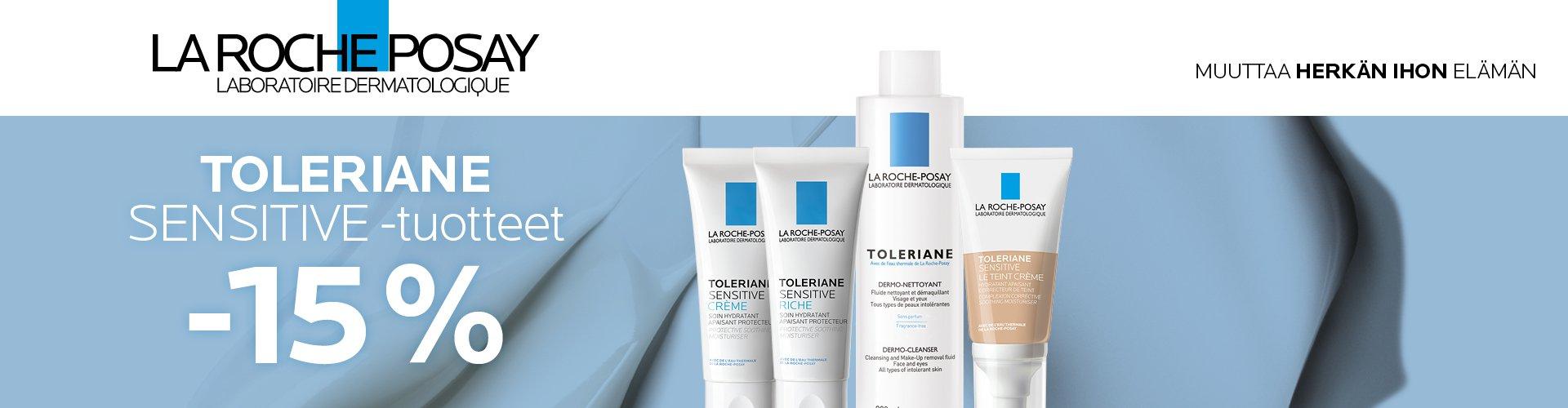La Roche Posay Tolerian Sensitive tuotteet -15%