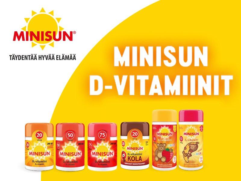 Minisun D-vitamiinit