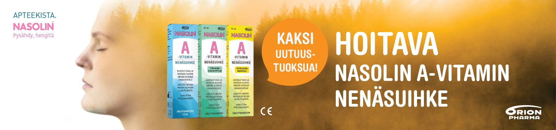 Nasolin A-vitamin A-vitamiini nenäsuihke kuiville limakalvoille