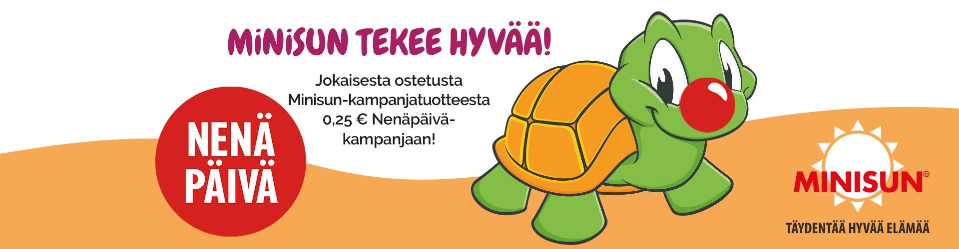Minisun Nenäpäivä kampanja