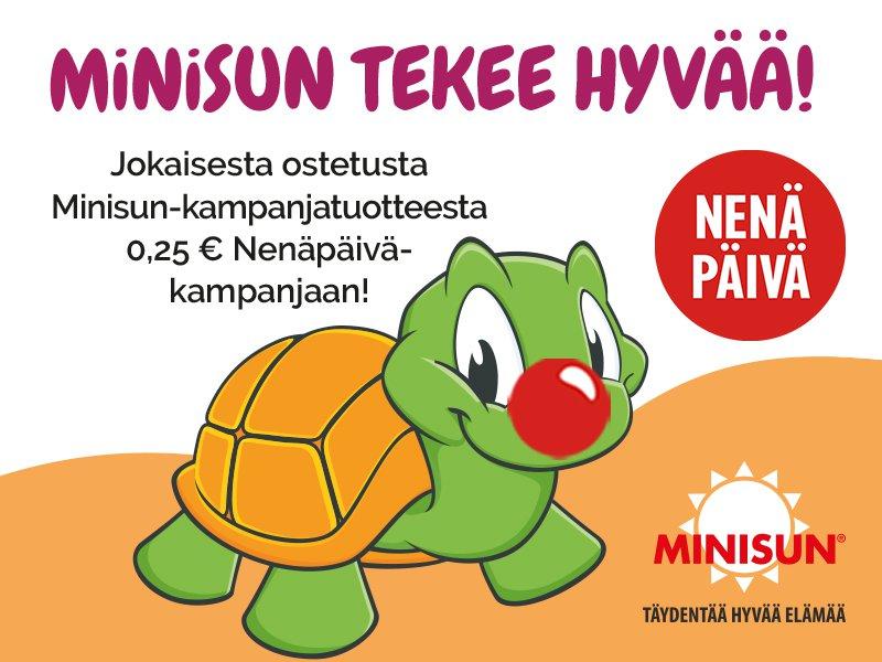 Minisun Nenäpäivä-kampanja
